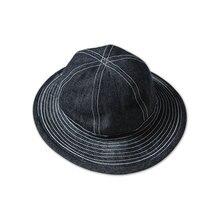 Bronosn 30s Daisy Mae Denim Buckle Hats CCC US Army Workwear Cap