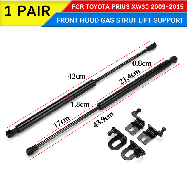 For Toyota Prius XW30 2009 2010 2011-2015 Car Front Engine Cover Hood Shock Lift Struts Bar Support Rod Arm Gas Spring Bracket 2