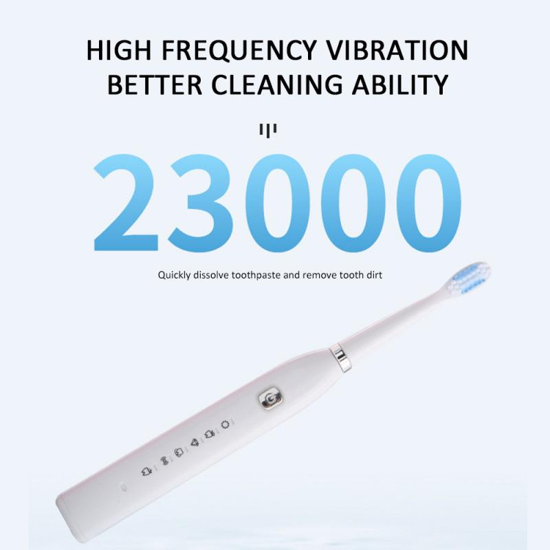 Electric toothbrush Six Gear USB Charging Soft Hair Sound Wave Vibration Home Fast chargeable Adult Waterproof