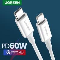Ugreen PD 60W cavo USB C a USB tipo-c QC4.0 3.0 cavo dati di ricarica rapida per Macbook cavo Samsung S9 Plus USB C per Huawei P30