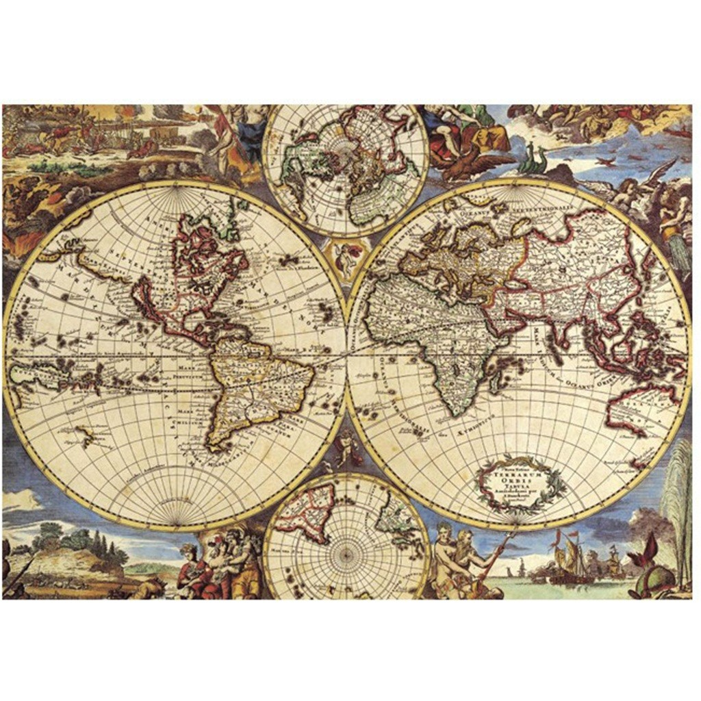 Jigsaw Puzzle 1000 Pieces World Map Assembling Puzzles Game For Adult Kid Large Puzzle Game Interesting Toys Personalized Gift
