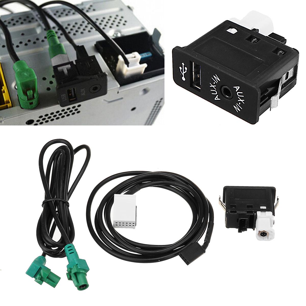 Автомобильный Кабель AUX-in USB для BMW E60 E61 E63 E64 E87 E90 E70 F25 F01 F02 F03 F04 F12 F13