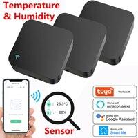 WIFI 온도 및 습도 센서 + IR 원격 제어 Tuya APP 음성 제어 적외선 스마트 홈 자동화 Alexa Google 홈