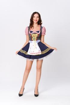 TaFIY 2020 new hot-selling Bavarian traditional beer dress plaid holiday party prom waiter costume - discount item  30% OFF Work Wear & Uniforms