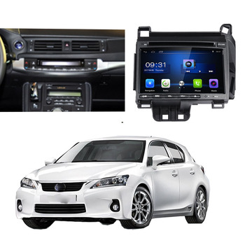 LiisLee Car Multimedia Player DVD GPS Audio Radio For Lexus CT CT 200h Android upgrade Navigation NAVI image