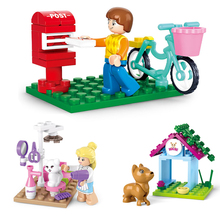 SLUBAN Blocks Friends Series Building Blocks 29pcs DIY Educational Toys For Children Constructor With Action Figure nuclear submarine building blocks sluban b0123 educational diy brick thinking toy for children compatible with legoes