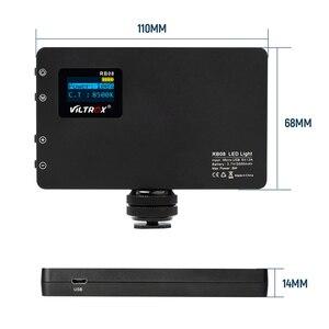 Image 4 - Viltrox RB08 bicolore 2500 K 8500 K Mini lumière LED vidéo Portable lumière de remplissage batterie intégrée pour téléphone caméra prise de vue YouTube