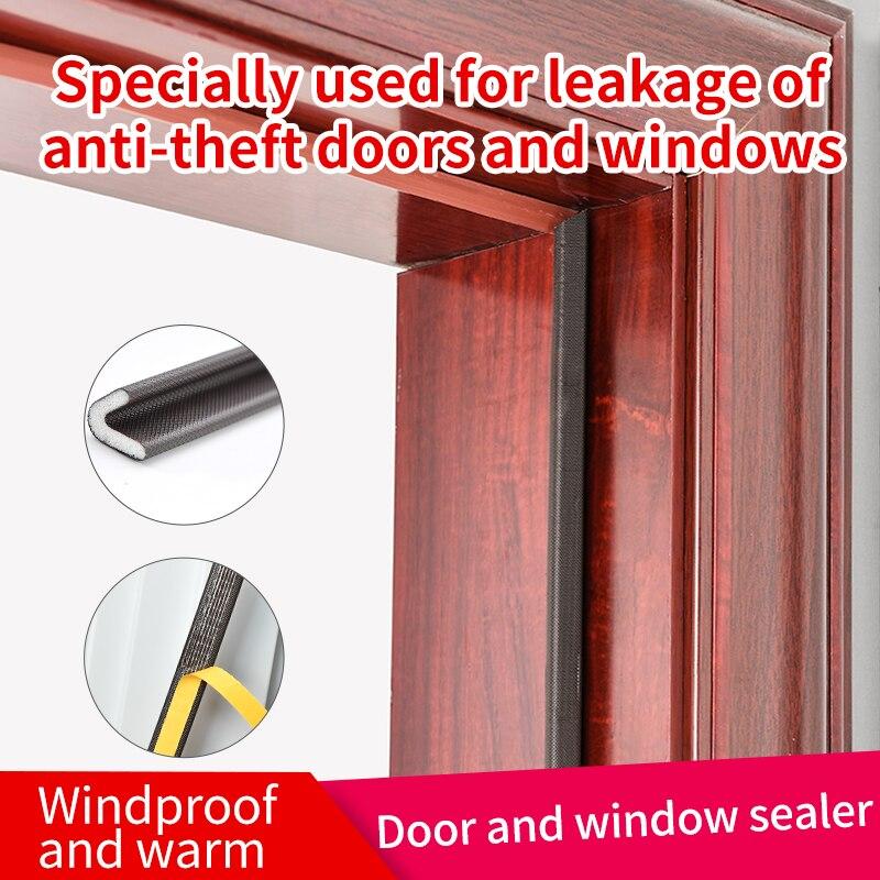 โฟมซีลขอบประตู ป้องกันเสียงรบกวน ซีลติดร่องประตู มีแถบกาว ซีลกันเสียง ซีลขอบหน้าต่าง และซีลช่องประตู Pu Sound Proof