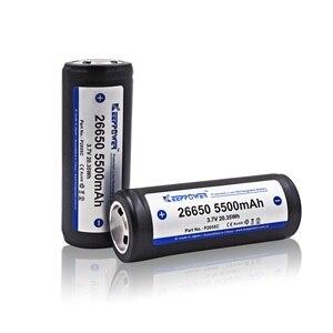 Image 3 - 2 pièces KeepPower 26650 batterie 5500mAh li ion protégé rechargeable 3.7V batterie P2655C livraison directe dorigine batteria