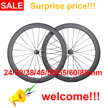 Carbon-Wheels Bicycle Tubular Road-Bike Deep-Clincher 700C Ultra-Light 24/30/35-/..