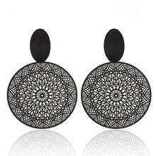 Богемные серьги, полые геометрические круглые Висячие серьги для женщин, модные ювелирные изделия Oorbellen Brincos Aretes De Mujer
