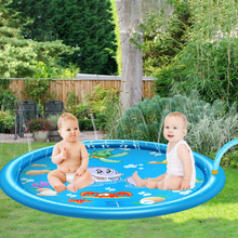 Inflatable Play Water Mat 100/150/170cm Sprinkler Pad Toys Swimming Pool Summer Lawn Games Sprinkler Splash Pad For Kids Outdoor
