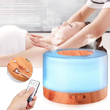 ELOOLE 700ml Humidifier Remote Control Essential Oil Diffuser  Ultrasonic Aromatherapy Mist LED Lamp Air Purifier