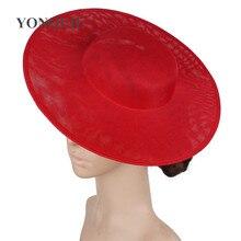30cm פוליאסטר fascinator בסיס DIY שיער כובעי אביזרי צלחת מסיבת אירוע כובעי כובעי חתונה חומר ססגוניות
