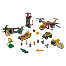 2019 New City Series Toys Jungle Air Drop Helicopter Compatible Legoingly 60162 Building Blocks for Children Christmas Gift