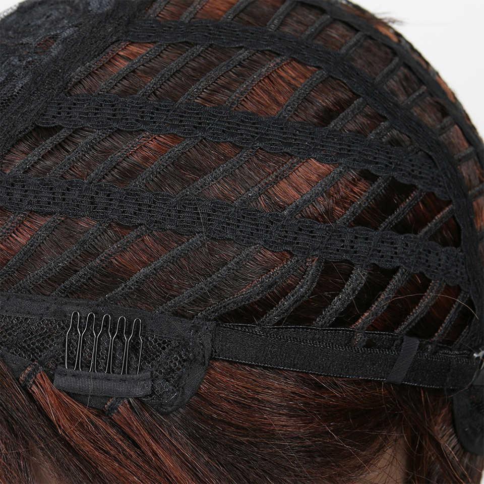 เปิดตัว Remy บราซิลผมสั้นวิกผมผมมนุษย์ผู้หญิงสีบลอนด์สั้น Wigs สุภาพสตรีตรง Cheep วิกผมสำหรับผู้หญิงสีดำ