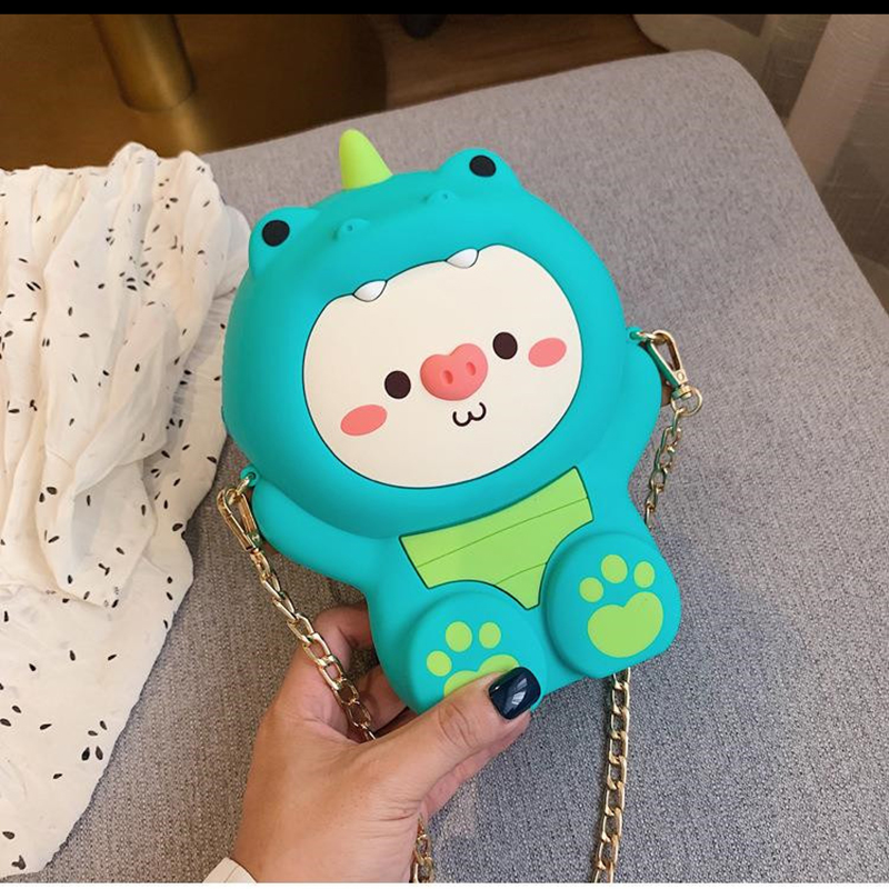 Fashion Zipper Women Makeup Bags Silicone Ladies Shoulder Bag Crossbody Bags High Quality Female Messenger Make Up Box Cute Case in Cosmetic Bags Cases from Luggage Bags