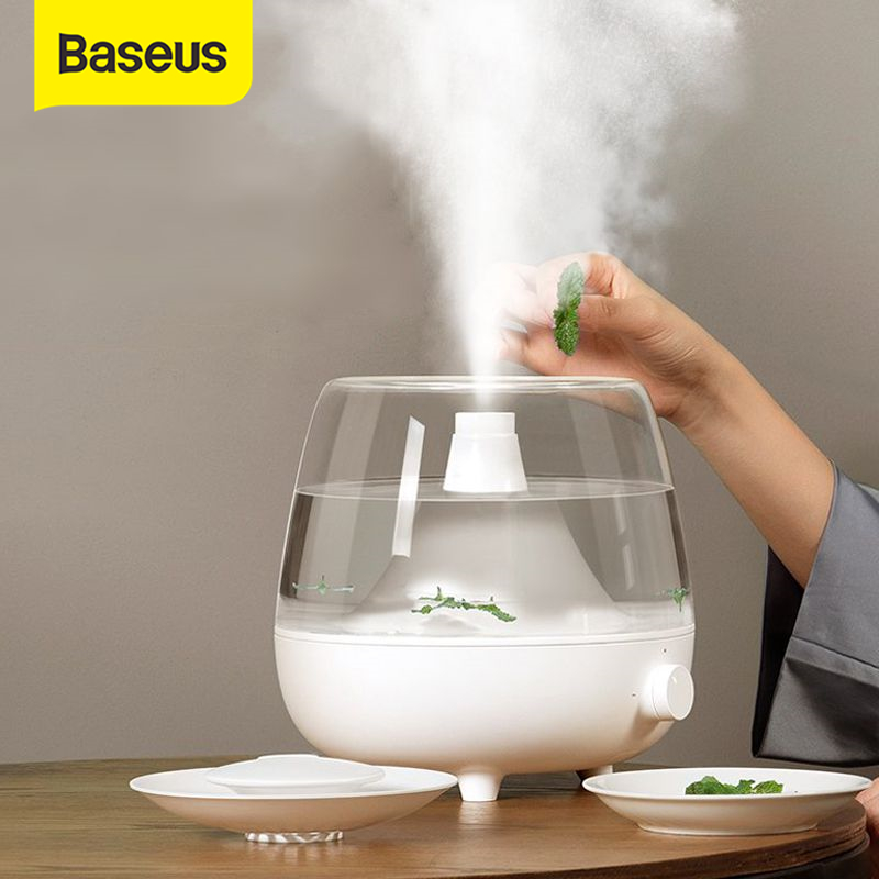 Baseus 2.4L Large Capacity Humidifier Essential Oil Diffuser Aroma Humidifier Aromatherapy Household Air Purifying Mist Maker