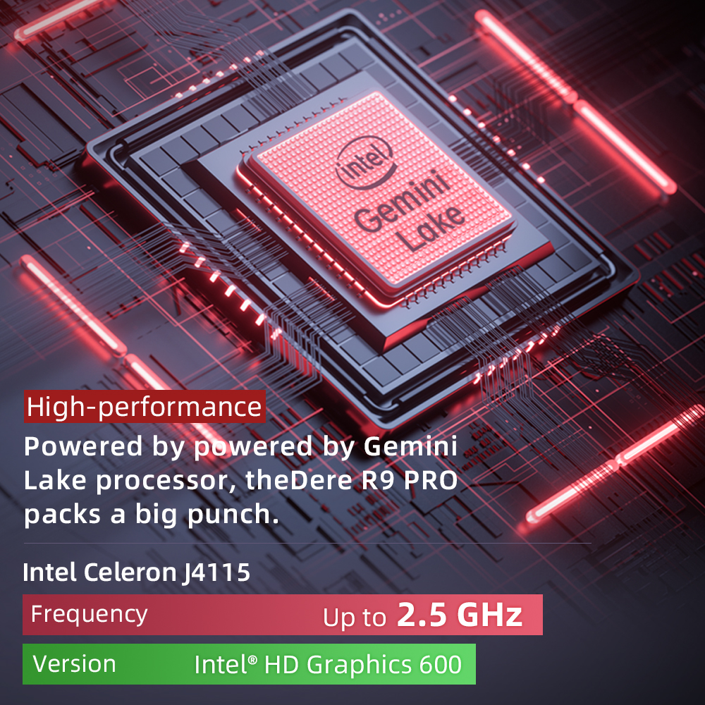 Dere R9 PRO 15.6 inch Laptop 12GB RAM 256GB ROM SSD Notebook Windows 10 pro Laptop Intel Celeron N5100 Computer PC Portable 2