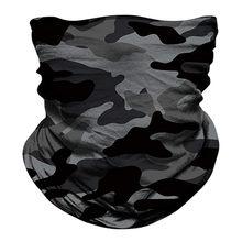 Diadema mágica de camuflaje para el cuello, bufanda de equitación militar para motocicleta