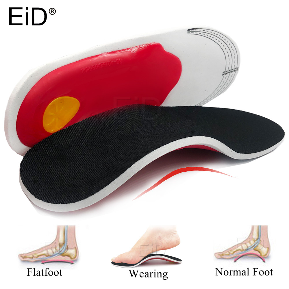 EiD Sport Silicone Gel Insoles For The Feet Man Women For Shoes Sole Orthopedic Pad For Running Shock Absorption Arch Support