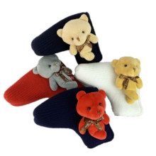 NRC Golf Headcovers Cute for Golf Blade Club Head Cover Lovely Knitted teddy bear