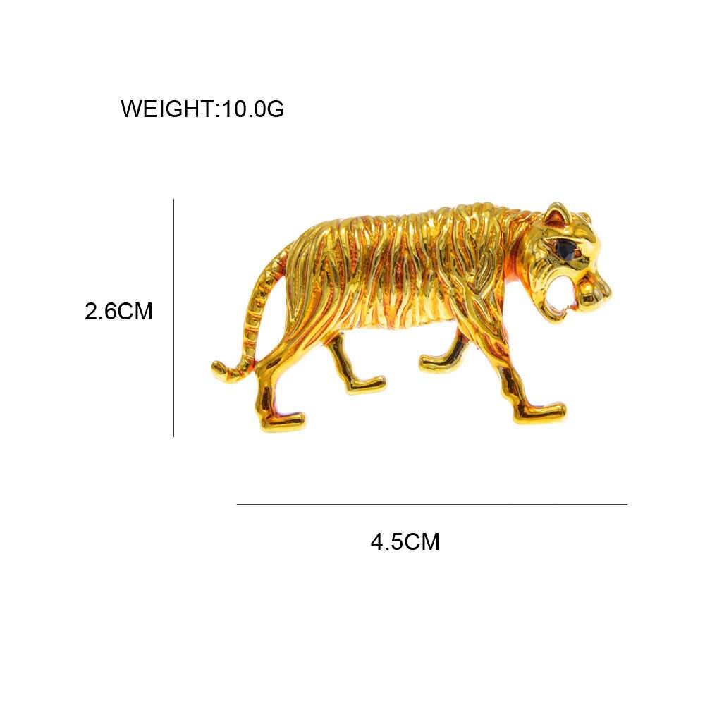 סינדי יאנג אמייל טייגר סיכות לנשים בעלי החיים פין חי עיצוב תכשיטים 3 צבעים לבחור באיכות גבוהה חדש 2020