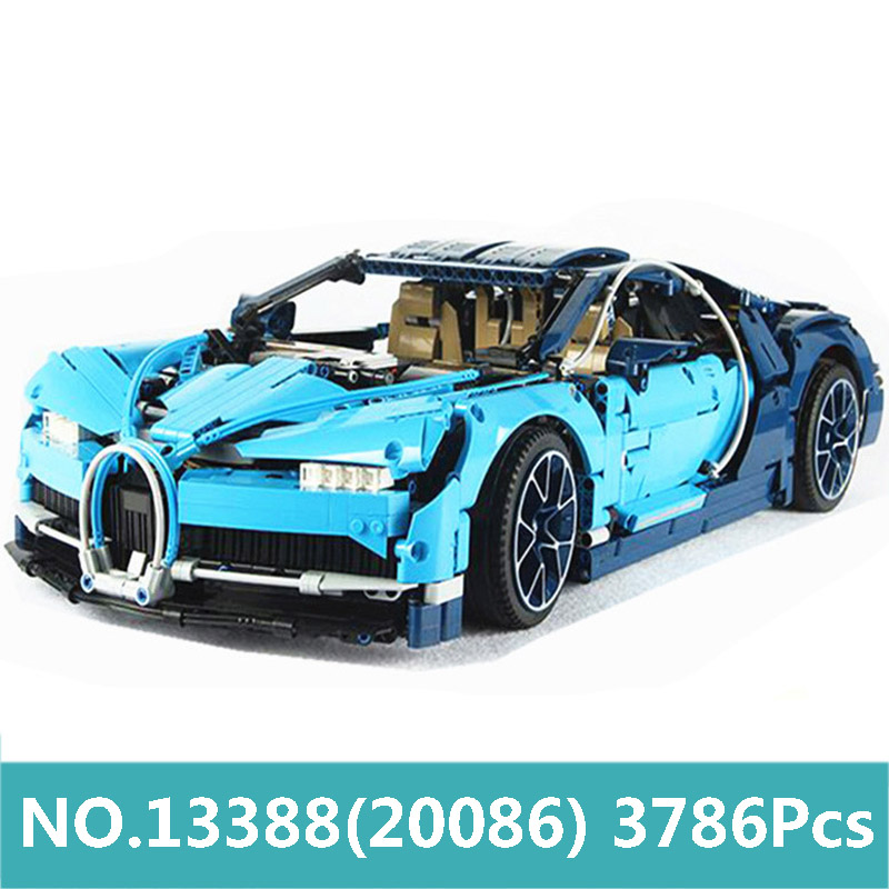 King Bricks 20086 City Super Sports Racing Car Building Blocks Technic Car Bugatti Chiron 42083 Toys For Children Lepinblocks-in Blocks from Toys & Hobbies    2
