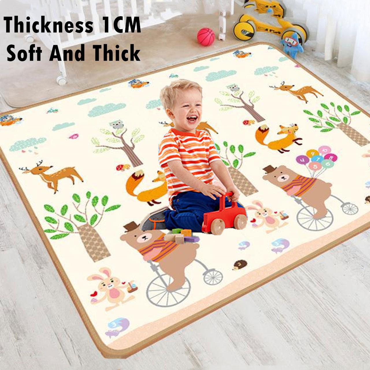 두꺼운 1cm Foldable 아기 놀이 매트 Xpe 퍼즐 매트 보육원에서 교육 어린이 카펫 등산 패드 키즈 러그 게임 완구