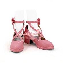 С рисунком из аниме «дюрарара! Bang Dream обуви пастельных палитры МАРУЯМА Ая розовый, разнопарая обувь Лолита A