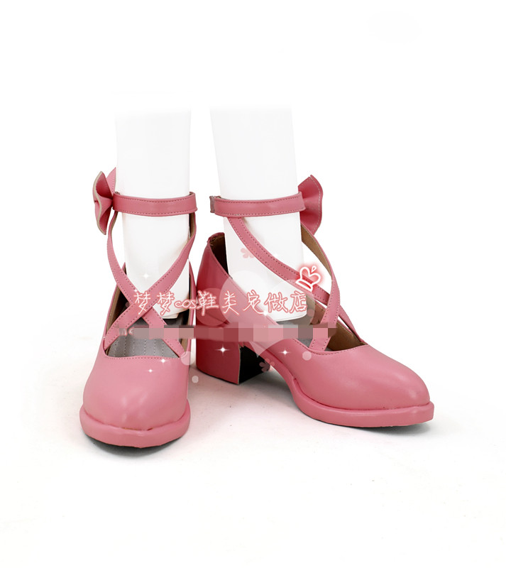 Anime cosplay <font><b>shoe</b></font> BanG Dream <font><b>shoe</b></font> pastel palettes Maruyama Aya Pink single <font><b>lolita</b></font> <font><b>shoe</b></font> A image