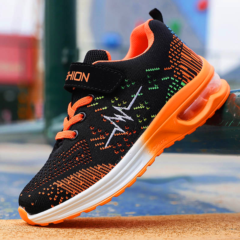 Deer New Fashion Flywire Knitting 3D Printing Running Shoe For Boys Girls