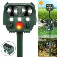 Repelente Solar de animales para jardín repelente para topos ultrasónico alimentado por energía Solar, repelente de insectos para gatos, perros y aves