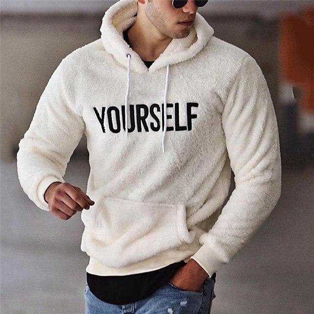 Warm Plush Fleece Hoodie Casual Long SleeveHooded Pullover - Kangaroo Pocket 4