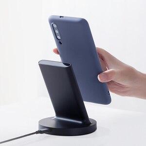 Image 5 - Xiaomi pionowa bezprzewodowa ładowarka 20W Max z ładowaniem Flash Qi kompatybilny z wieloma bezpiecznymi stojakami poziomymi dla smartfona Xiaomi
