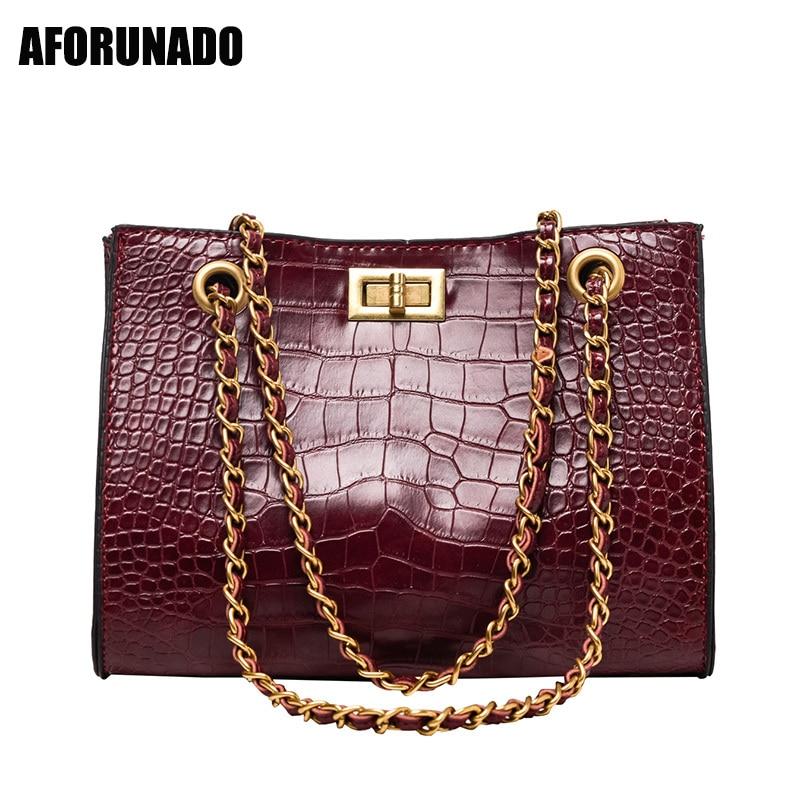 New Luxury Handbags Women Bags Designer Stone Leather Chains Shoulder Bags Tote Ladies HandBag Crossbody Bags For Women 2020