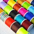 50 ярдов/рулон 0,8 мм нейлоновый шнур нить китайский узел макраме шнур плетеный браслет строка DIY кисточки вышивка бисером нити