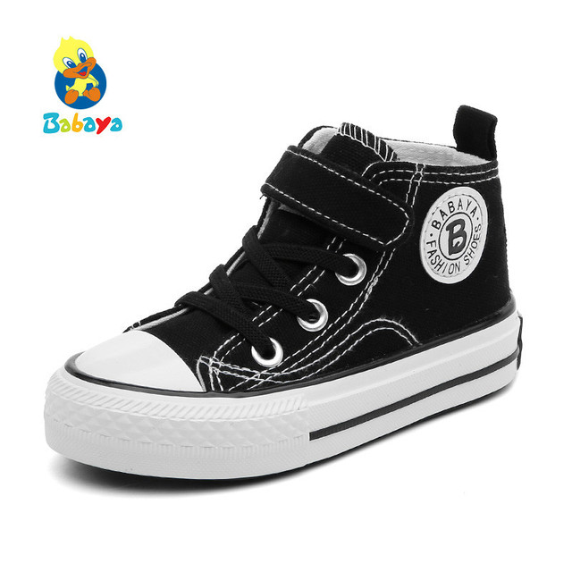 Children Canvas High Sneakers Breathable Autumn Winter Fashion Kids Casual Shoes