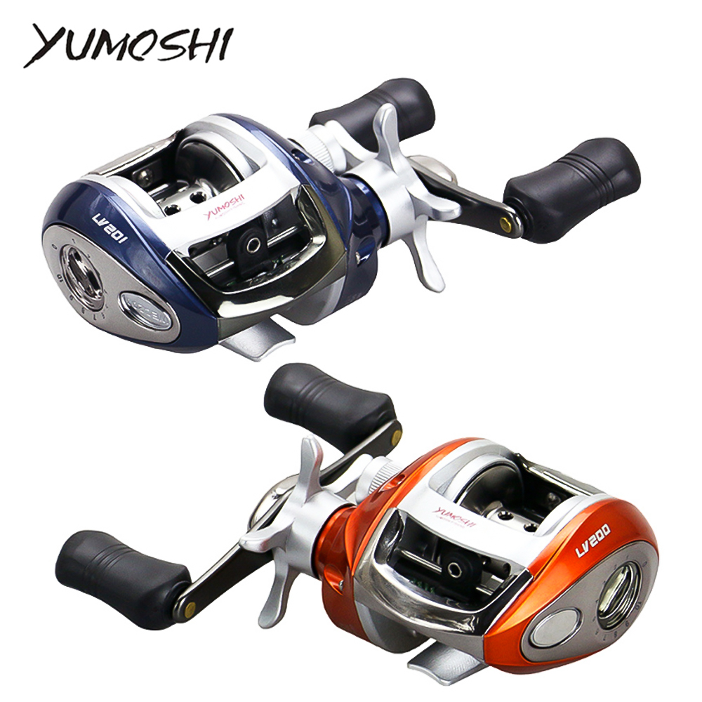 2020 New Carbon Baitcasting  12+1 BB  Casting  Centrifugal And Magnetic Brake System Multiplier Fishing