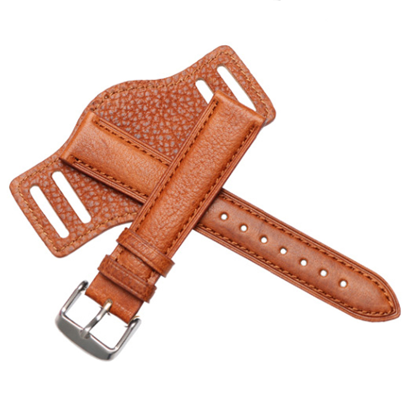 Vintage Genuine Leather Watch Strap Band 18 20 22mm Watchband With Mat Black Brown Coffee Wrist Bracelets for Men Watches