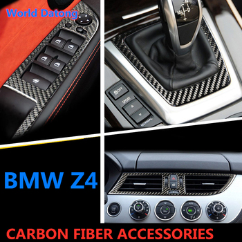 Really Carbon Fiber Black Interior Decroation Cover Trims For BMW Z4 E89 2009-2015 Pure black accessories image