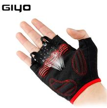 GIYO Cycling Gloves Racing Road Bike Gloves Men Sports Half Finger Anti Slip Gel Pad Bicycle MTB Road Bike Gloves Riding Gloves cycling gloves 3 colors cycling gloves men sports half finger anti slip gel pad motorcycle road bike gloves plus size xl