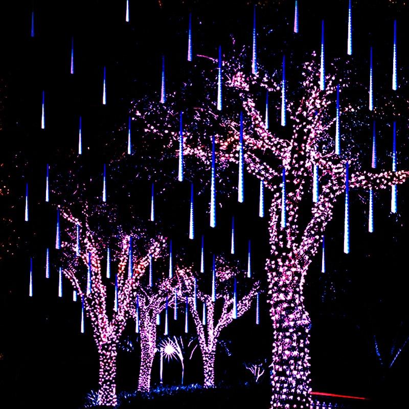 30cm 8Tube Meteor Shower Rain Tube Snowfall LED Light For Valentine Holiday Garden Decor Christmas Lights Outdoor Strings 220v