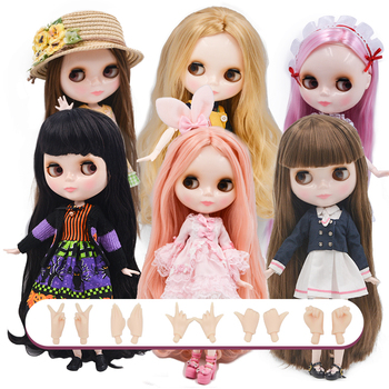 Neo Blyth Doll NBL Customized Shiny Face,1/6 BJD Ball Jointed Doll Ob24 Doll Blyth for Girl, Toys for Children NBL01 [wamami] for 12 neo blyth doll 7 joints purple short wig matte face
