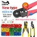 Nuevo HSC8 6-6C HSC8 6-4 alicates de crimpado autoajustables de tipo MINI 0,25-10mm multi herramientas alicates de manos Terminal crimpadora férula