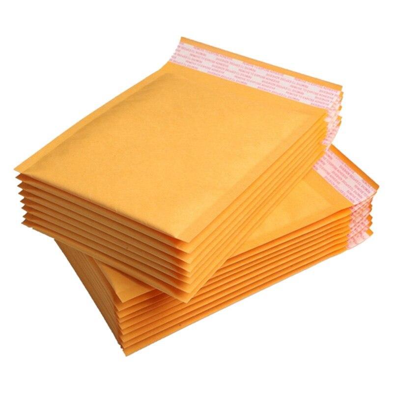 60 Pcs/Lot Kraft Paper Mailers Bubble Envelopes Bags Mailers Envelope With Bubble Mailing Bag