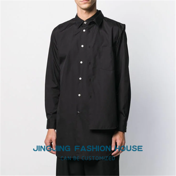 S-6XL!!2020 New Japanese trend men's loose long-sleeved shirt spring and summer vacation two hair stylist youth shirts