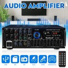 2000w bluetooth estéreo amplificador surround som usb sd amp fm dvd aux display lcd de cinema em casa karaoke controle remoto