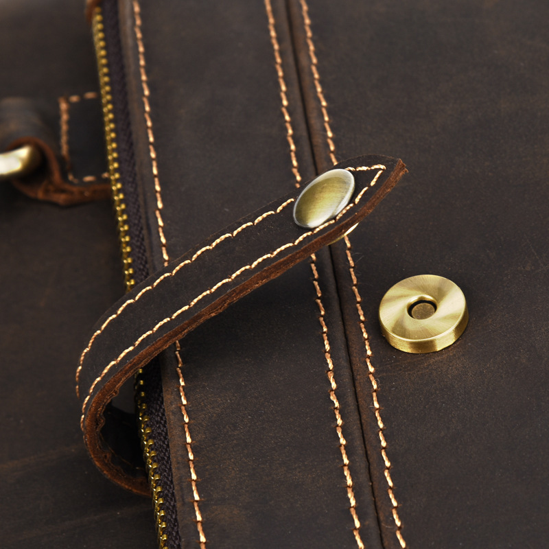 New Men's Handbags Business Genuine Leather Shoulder Bag Leather Handbag With Shoulder Strap Men Male vintage Crossbody Bag - 5