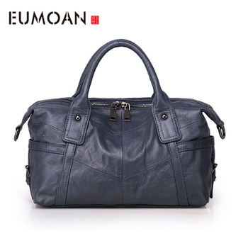 EUMOAN First layer of leather handmade handbags shoulder bag ladies shoulder bag female handbag